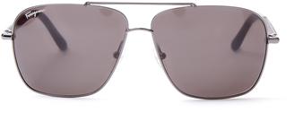 SALVATORE FERRAGAMO Rectangle-frame sunglasses $299 thestylecure.com