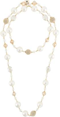 Edward Achour Paris pearl embellished necklace