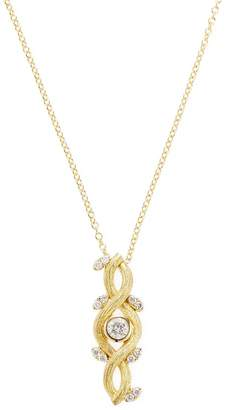 Artisan Women's Yellow Gold Floral Diamond Necklace