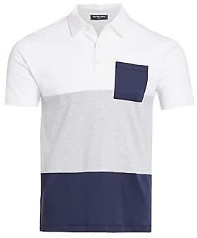 Saks Fifth Avenue Men's MODERN Colorblock Cotton Polo