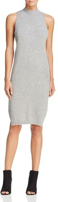 360 Sweater Mock Neck Cashmere Sweater Dress $288 thestylecure.com