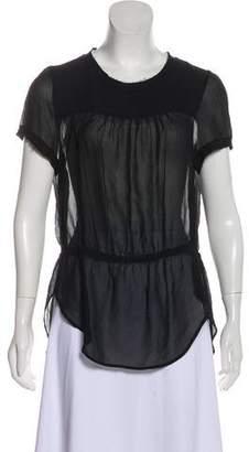 Etoile Isabel Marant Silk Short Sleeve Top