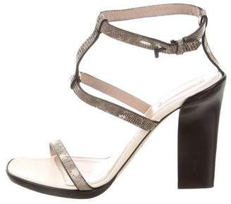 Reed Krakoff Embossed Ankle Strap Sandals