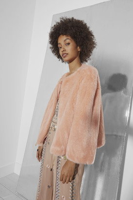 French Connection Leonie Faux Fur Jacket