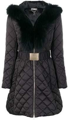 Liu Jo fur trimmed coat