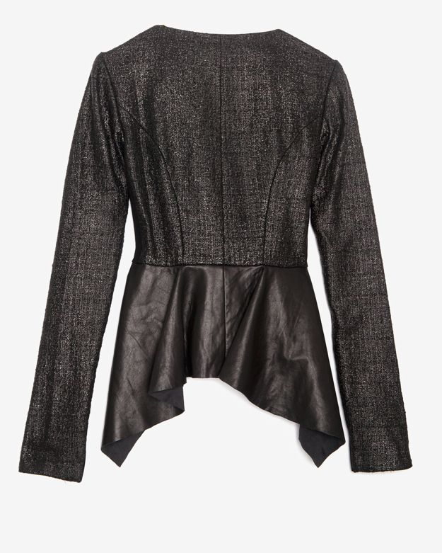 Willow Boucle Leather Jacket