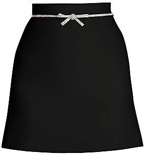Miu Miu Women's Jewelled Bow Mini Skirt