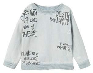 MANGO Message denim sweatshirt