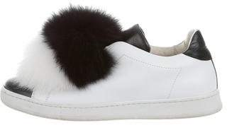 Joshua Sanders Pom-Pom Slip-On Sneakers