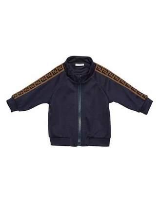 Fendi Boy's Track Jacket w/ FF Taping, Size 12-24 Months