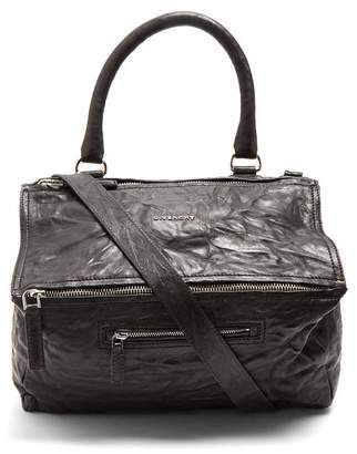 703d608a14 Givenchy Pandora Medium Creased Leather Bag - Womens - Black