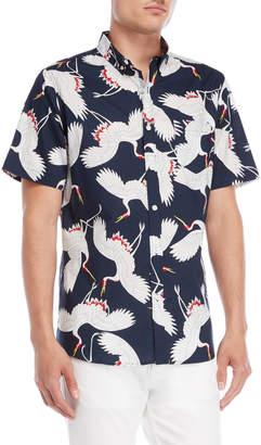 N. Oxford Lads Swan Button-Down Shirt
