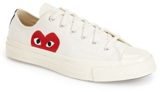 Women's Comme Des Garcons Play X Converse Chuck Taylor Hidden Heart Low Top Sneaker $120 thestylecure.com