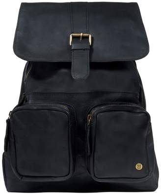 MAHI Leather - Leather Roma Backpack Rucksack In Ebony Black