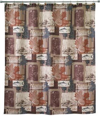 "Avanti Nature Walk Graphic-Print 72"" x 72"" Shower Curtain"