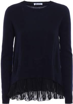 Dondup Chiffon And Cashmere Blend Sweater