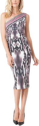 Hale Bob One Shoulder Sleeveless Prinetde Dress