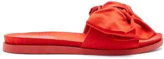 Simone Rocha Bow-embellished satin slides