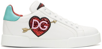 Dolce & Gabbana White Heart Sneakers $645 thestylecure.com
