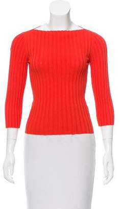 Burberry Ribbed Long Sleeve Sweater