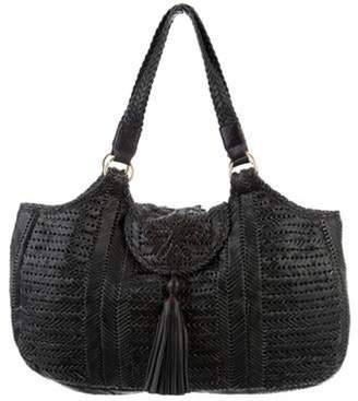 Anya Hindmarch Neeson Woven Leather Tote Black Neeson Woven Leather Tote