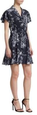 Cinq à Sept Quincy Floral Silk Wrap Dress
