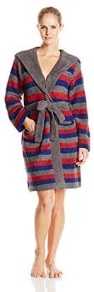 Casual Moments Women's Marshmallow Hooded Robe