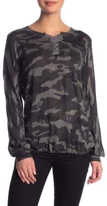 Democracy Camo Lace-Up Sweater 6ea0f7b47