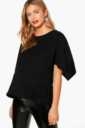 boohoo Maternity Oversized Side Split T-Shirt