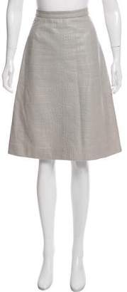 RED Valentino Leather Knee-Length Skirt w/ Tags
