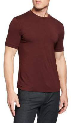 Emporio Armani Men's Basic Crewneck T-Shirt, Burgundy