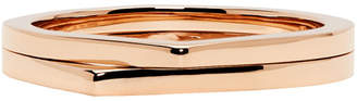 Repossi Rose Gold 2 Rows Antifer Phalanx Ring