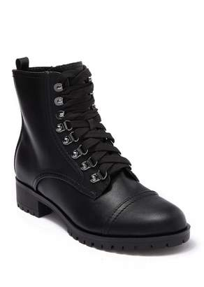 Nine West Wren Block Heel Combat Boot