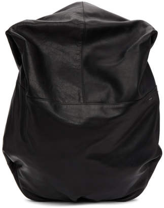 Côte and Ciel Black Leather Nile Backpack