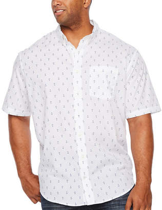 Izod Breeze Shirt Short Sleeve Button-Front Shirt-Big and Tall