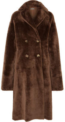 Utzon Oversized Reversible Shearling Coat - Brown