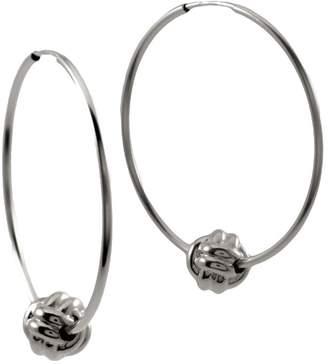 """MARIE JUNE""""¢ Jewelry - Monkey Paw Knot Silver Hoops"""