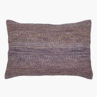 ABC Home Sil'ouette Rice Raffia Pillow Blue Gray