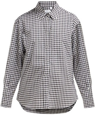 Burberry Gingham Cotton Shirt - Womens - Black White