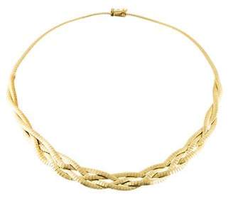 14K Woven Omega Chain Necklace