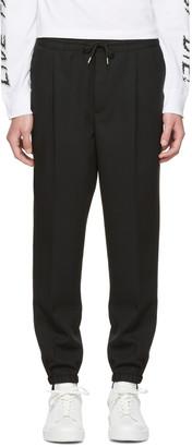 McQ Alexander McQueen Black Tailored Lounge Pants $440 thestylecure.com