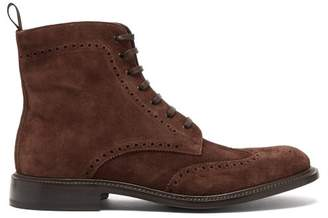 O'Keeffe Okeeffe - Felix Suede Brogue Boots - Mens - Brown