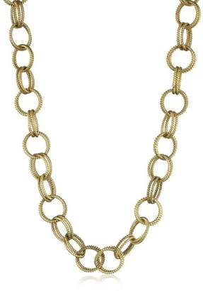 Betsey Johnson Tone Textured Chain-Link Long Necklace