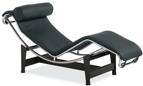 Pierre Leather Chaise