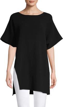 Eileen Fisher Boat Neck Tunic Top