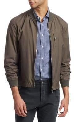 Brunello Cucinelli Rib-Trimmed Bomber Jacket