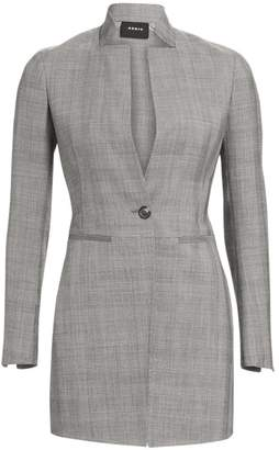 Akris Prince Of Wales Stretch Wool Blazer Jacket