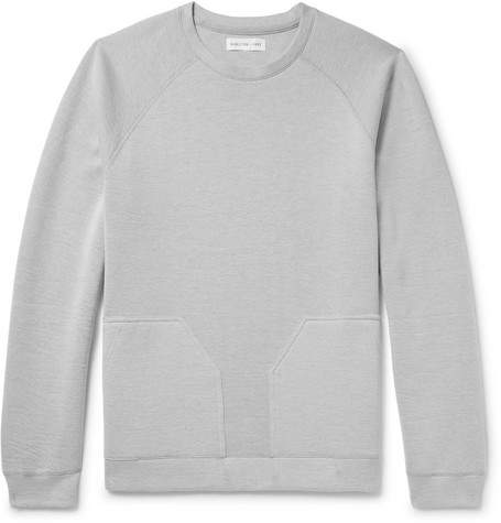 Hamilton and Hare Ice Downtime Cotton-Blend Jersey Sweatshirt