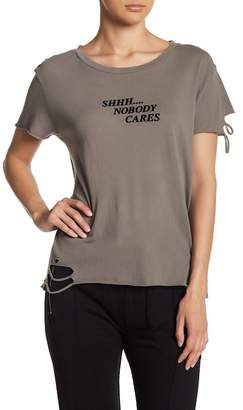 Wildfox Couture Shhh....Nobody Cares Short Sleeve Tee