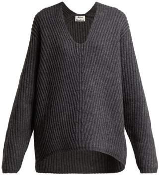 Acne Studios Deborah Wool Sweater - Womens - Dark Grey